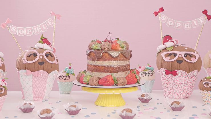 capa do curso Hoje é dia de feltro: cupcake decorativo para mesa de aniversário