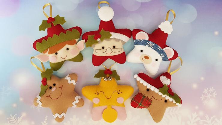capa do curso Estrelinhas de Natal em feltro 2