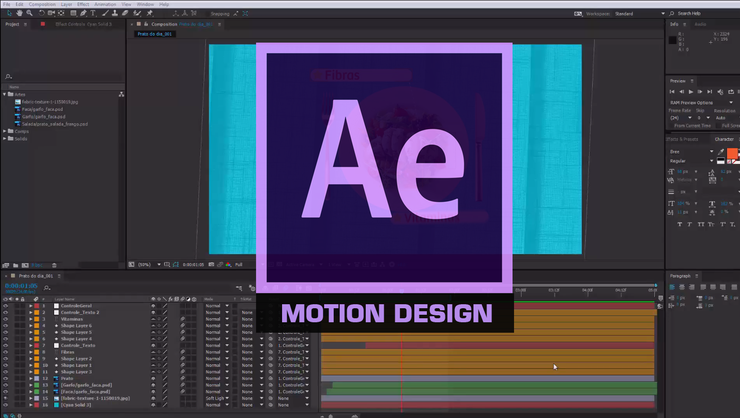 capa do curso Motion design com After Effects