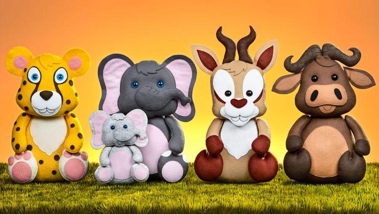 capa do curso Festa infantil em feltro: animais da savana
